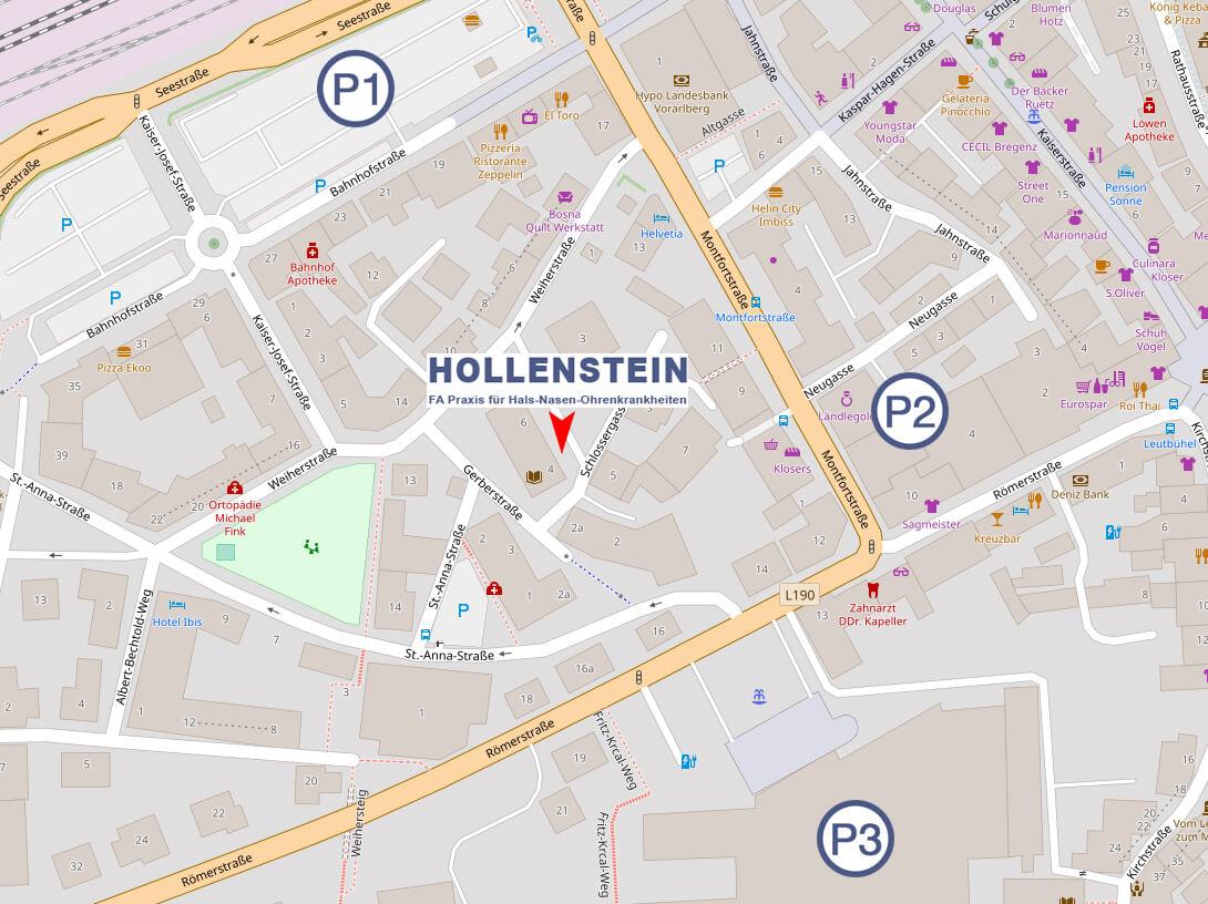 HNO-Hollenstein Anfahrt